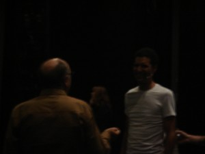 Will Power in rehearsal with James Lapine